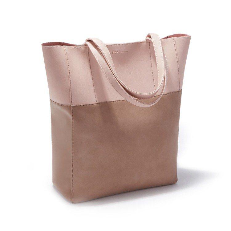 Edie mini托特包,淡藕粉。圖/ZALORA提供