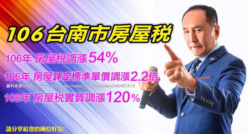 有意參選台南市長的林義豐把自己塑造為「台灣川普」。 圖/取自臉書