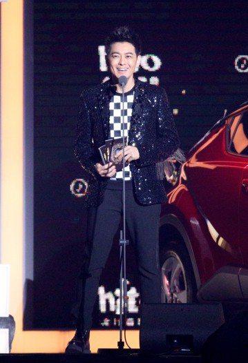 2018hito流行音樂獎在台北小巨蛋舉行頒獎典禮,林志穎擔任頒獎人。記者林伯東/攝影