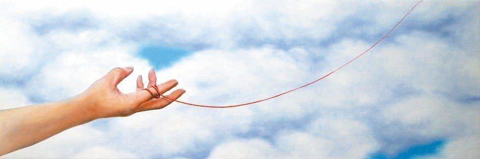 新生代畫家林秀銘作品「紙鶴,飛」。 林秀銘/提供