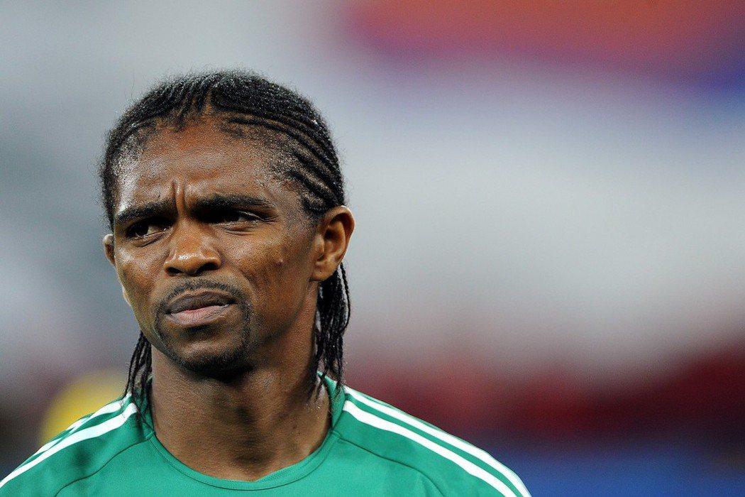 奈及利亞傳奇足球明星卡努。 歐新社