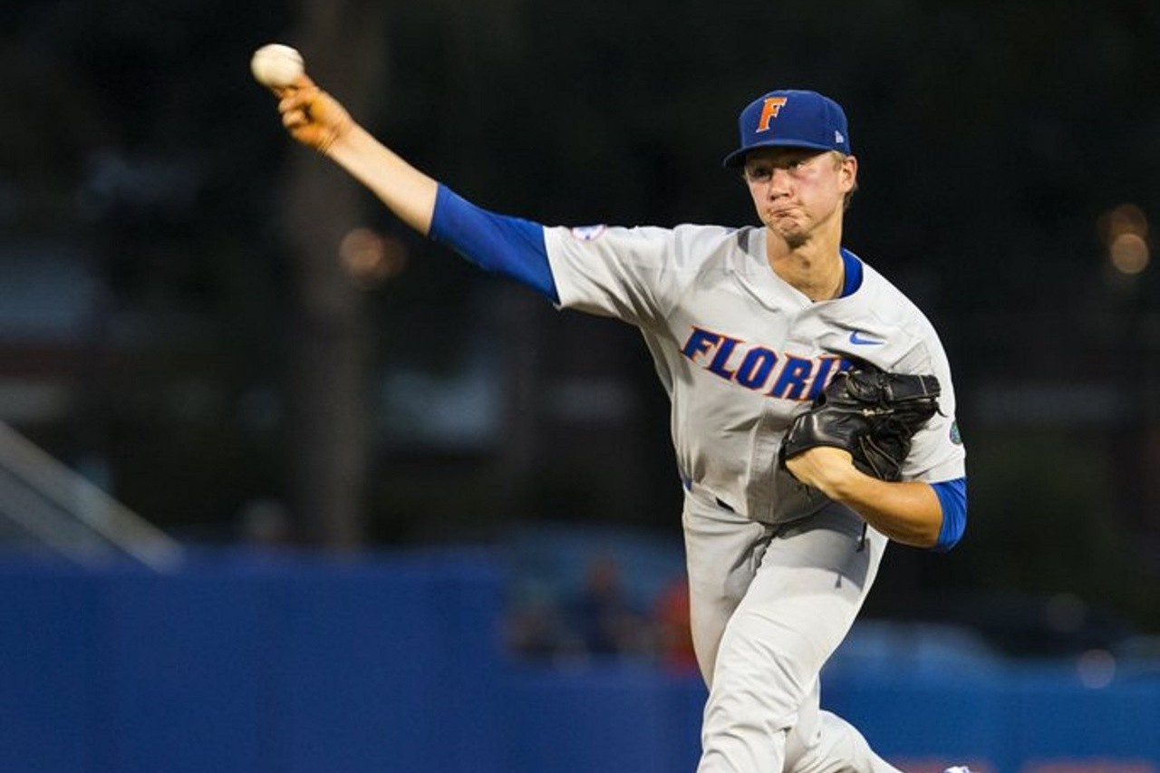 佛羅里達大學的右投手辛格。 美聯社