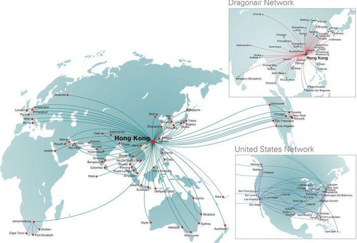 全球航線圖 .onetravel.com