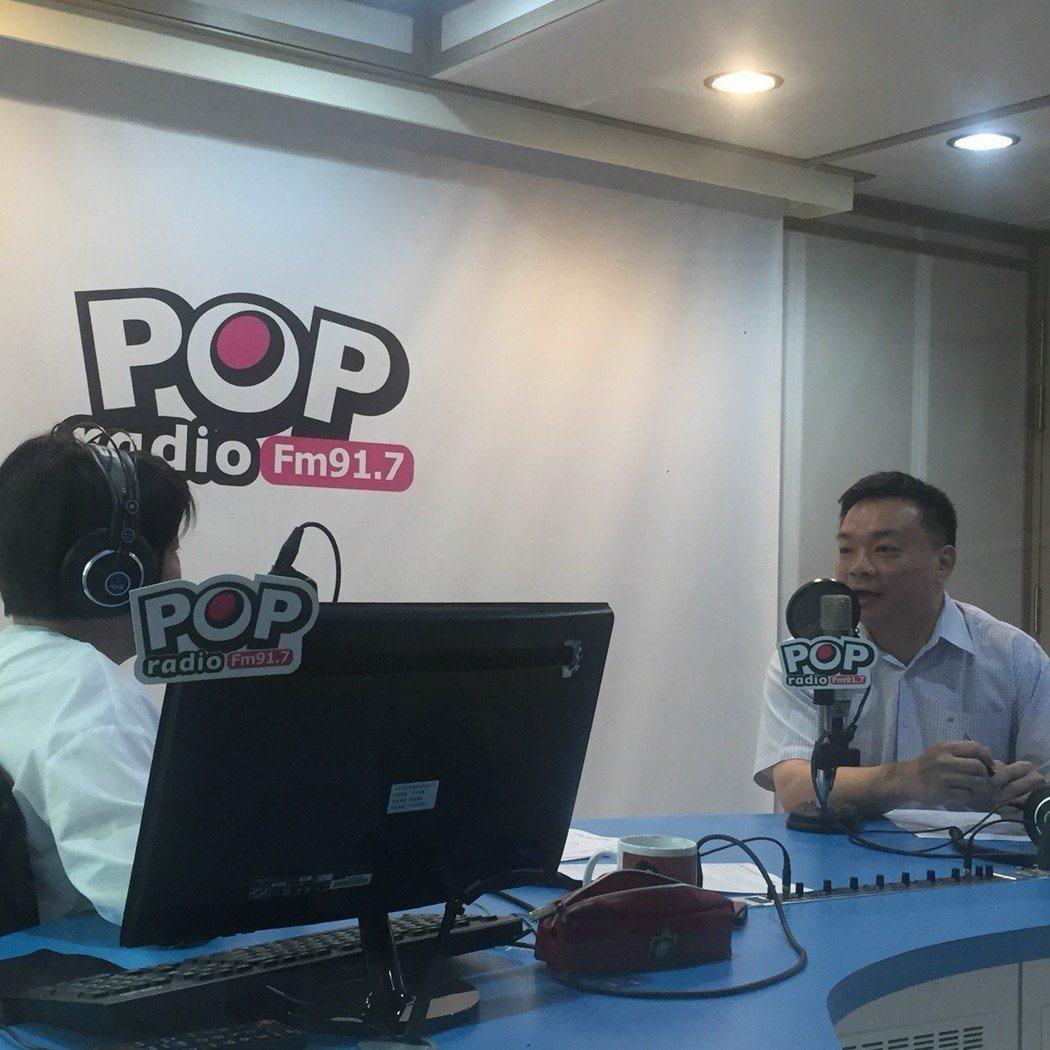 國民黨籍有意參選台南市長的高思博今天接受電台專訪時表示,選情大有可為。圖/高思博...