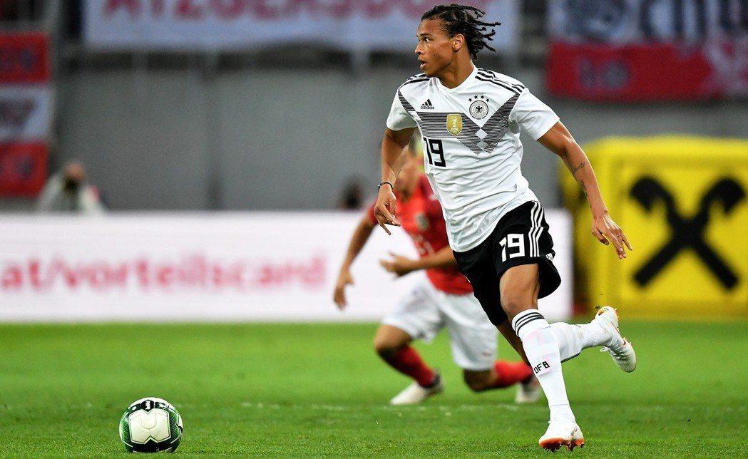 出戰世界盃,德國意外的沒選最佳新秀薩內。 歐新社