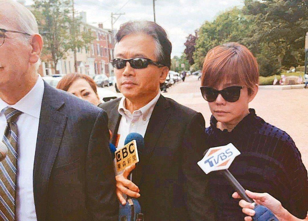 孫鵬狄鶯夫婦美國救子煎熬200多天,終於能將兒子帶回台灣。 記者劉麟/攝影