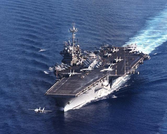 96年3月台海飛彈危機,美軍第七艦隊「獨立號」航空母艦率領龐大戰鬥群航向台灣海峽...