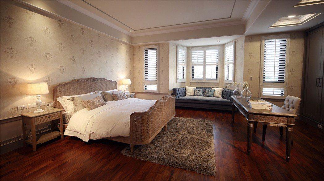 注重機能與隱私設計的大主臥,睡眠區、休憩區、書房、更衣間、大型按摩浴缸專屬衛浴一...
