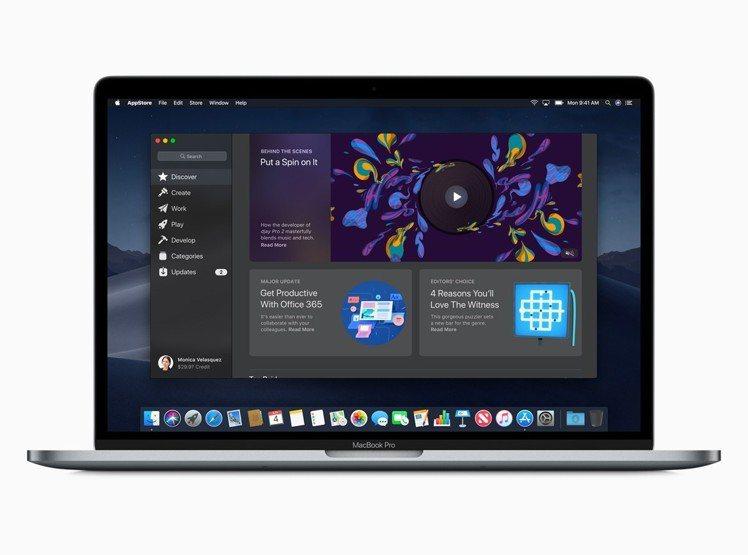 此次Mac App Store也出現全新的外觀設計、內容呈現與標籤分類方式。圖/...