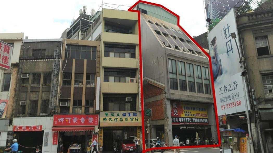 非六都第一件,竹市首例危老重建案,建築原貌。圖/新竹市府提供