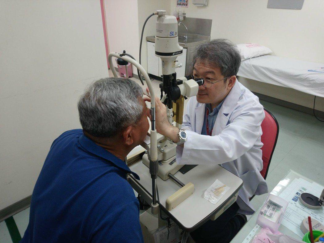 眼睛也會中風!為恭醫院分享病例,提醒3高慢性病患者最好定期檢查眼睛。圖/為恭醫院...