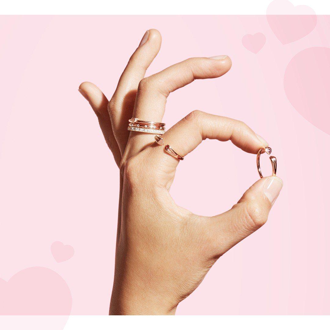 PANDORA堆疊戒指新品上市,6月7日起至10日止推出限時買二送一活動,機會難...