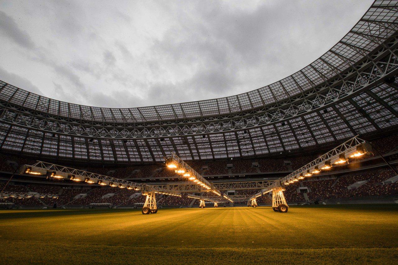 俄羅斯世界盃期間,盧日尼基體育場是包括揭幕戰在內的四場小組賽、一場八分之一決賽、...