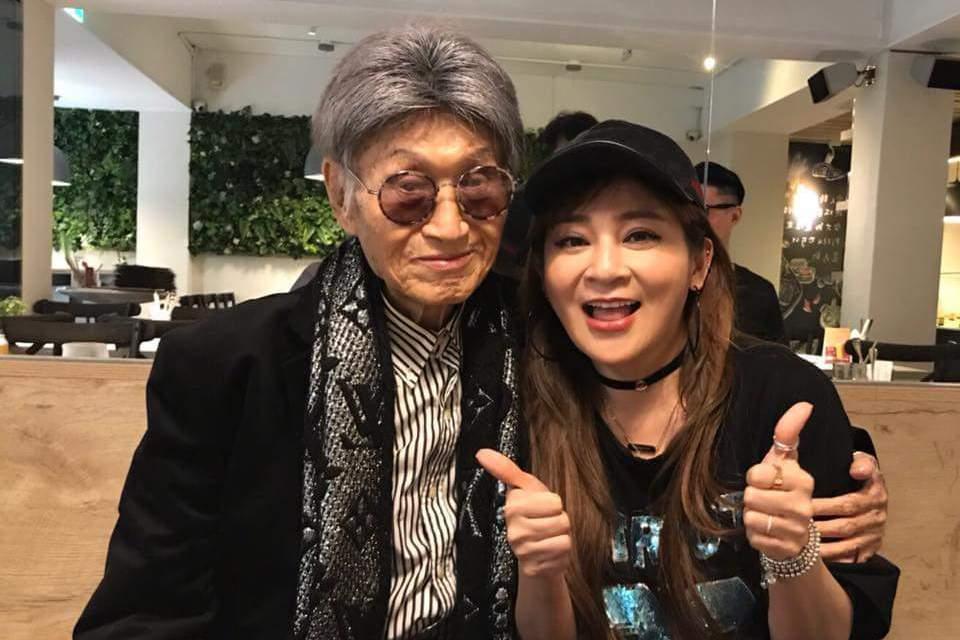 王彩樺和傅達仁聚餐合照。圖/摘自臉書