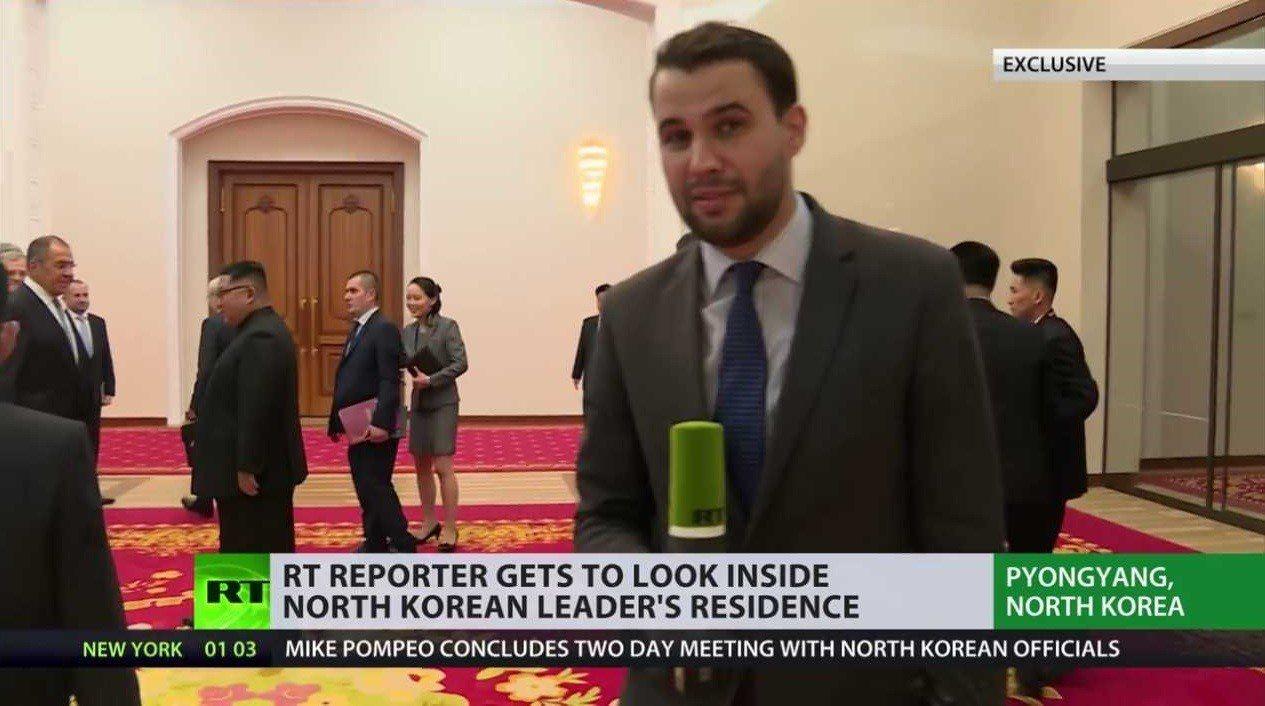 俄羅斯官媒RT記者佩特連科隨外長拉夫羅夫訪問平壤,提供關於金正恩的少見第一手報導...