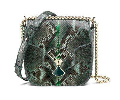 DIVAS DREAM Meteor森林祖母綠色蟒蛇皮肩背包,109,500元 ...