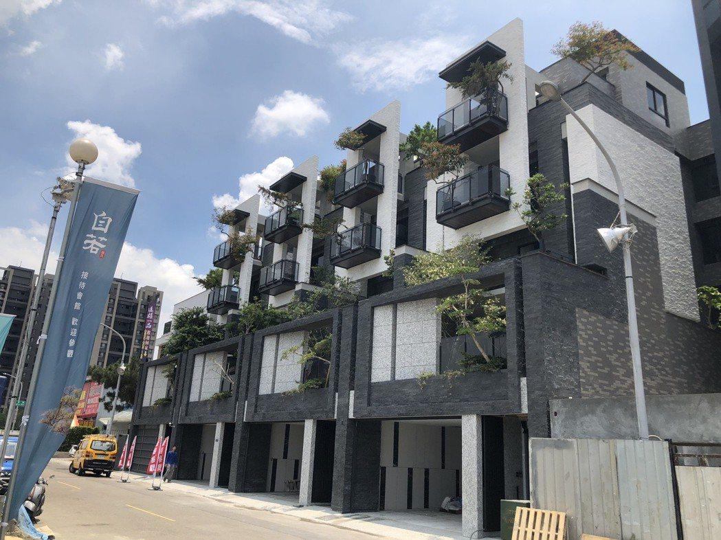 台中單元二豪墅市場發燒,新完工落成的「悠久自若」電梯別墅,每戶總價推升至7,00...