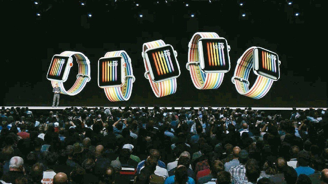 AppleWatch將推出彩虹版表帶及表面。 圖/翻攝Apple官網