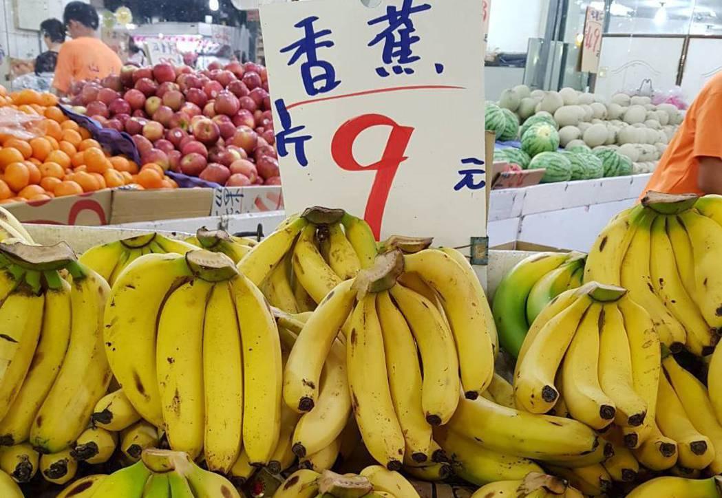 近期香蕉價格大跌。 圖/聯合報系資料照片