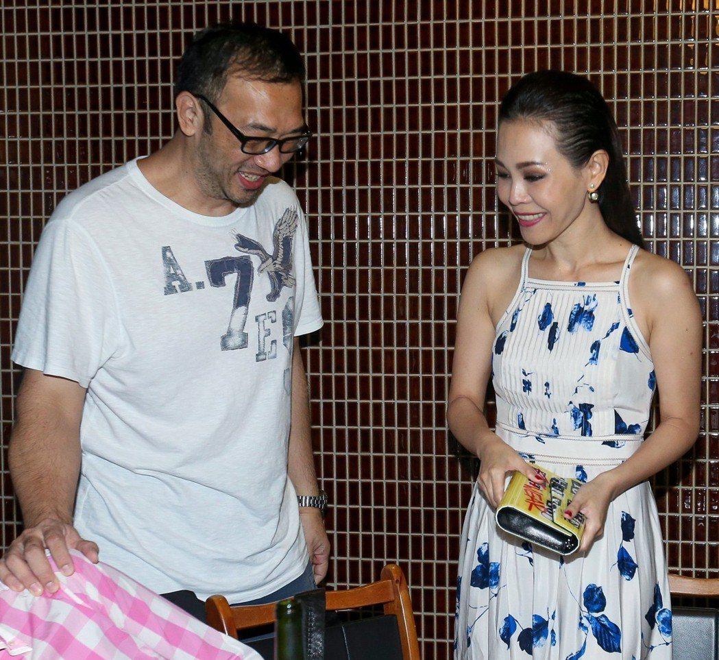 彭佳慧(右)與前夫王丕仁(左)三月已簽字離婚。 圖/聯合報系資料照