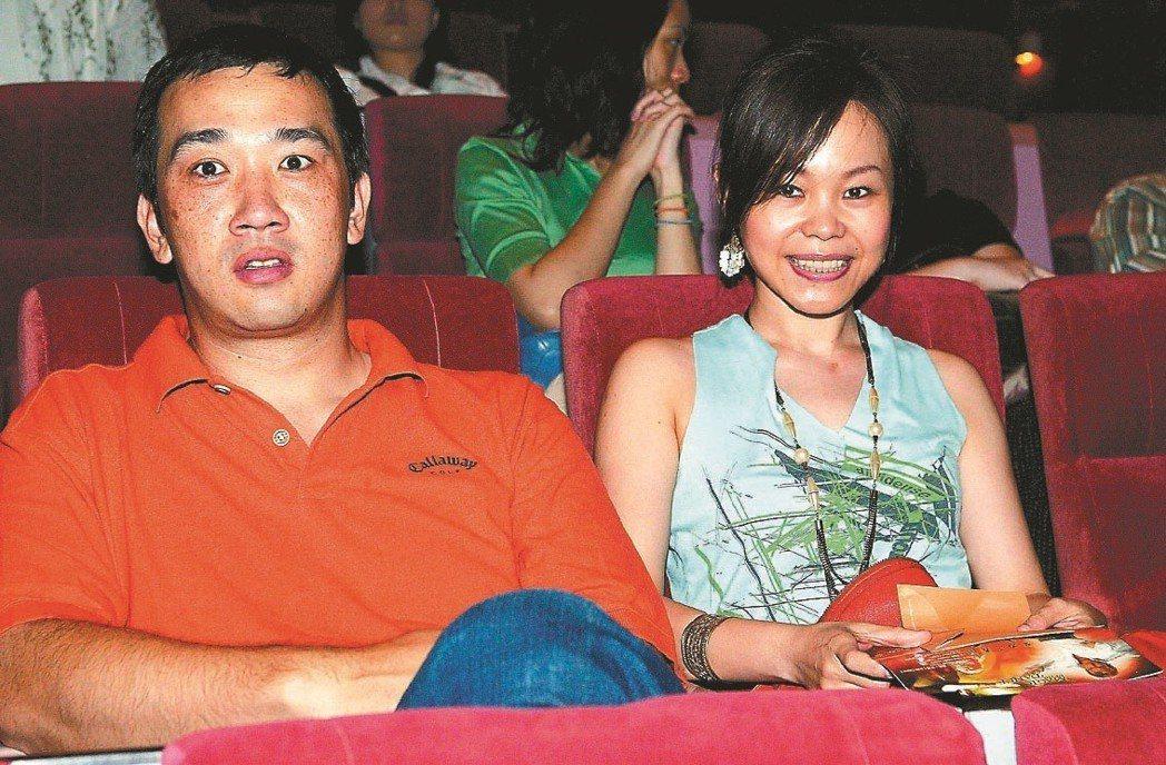 彭佳慧(右)曾以太胖、微禿打槍前夫王丕仁。 圖/聯合報系資料照