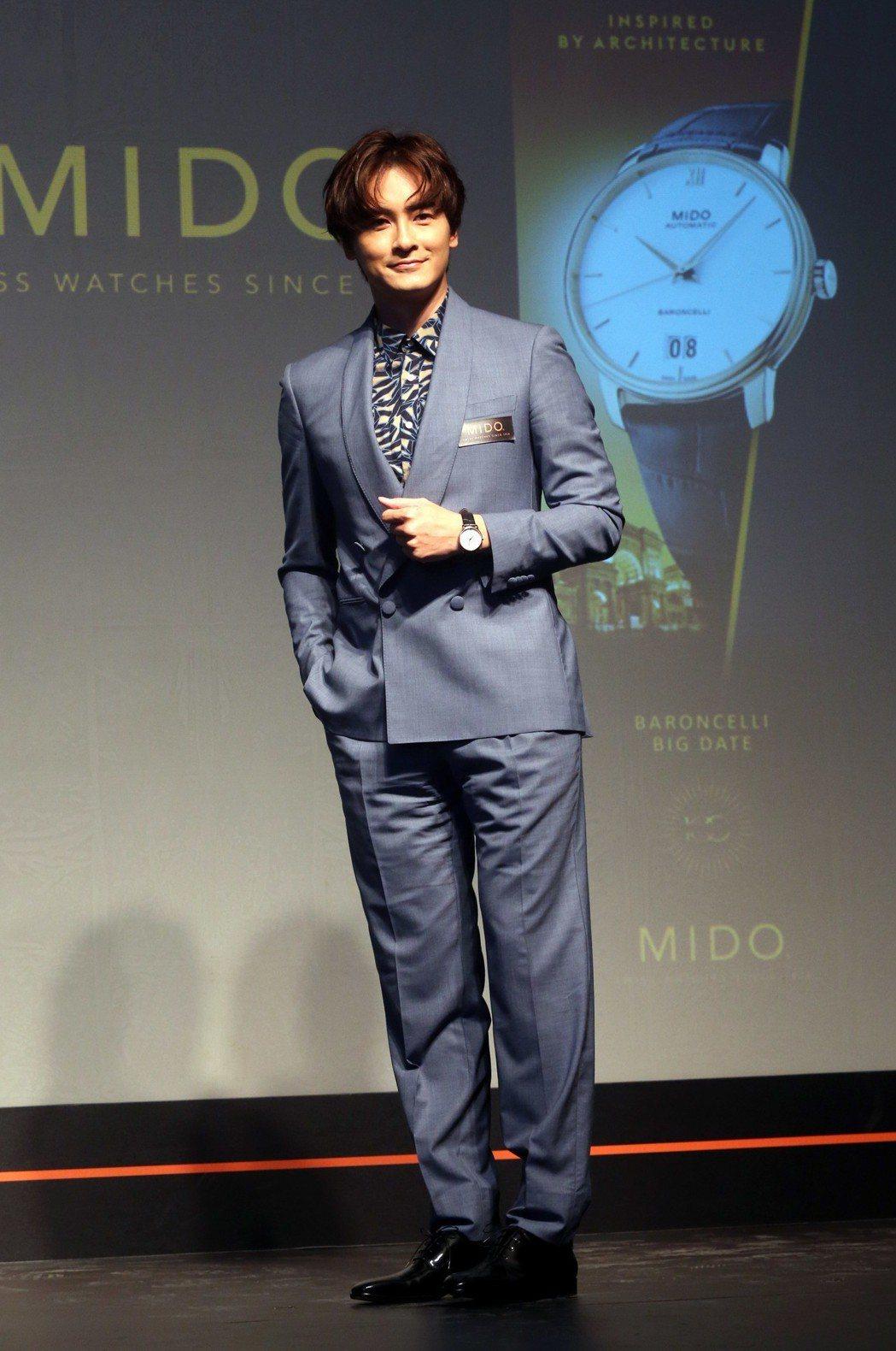 國民男神鄭元暢回歸為手錶品牌代言,見證MIDO百年風華。記者邱德祥/攝影