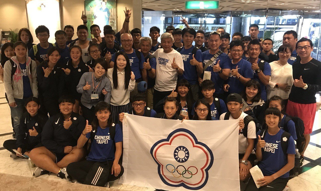 亞青田徑賽中華代表隊於昨日抵達大阪。 中華田協提供
