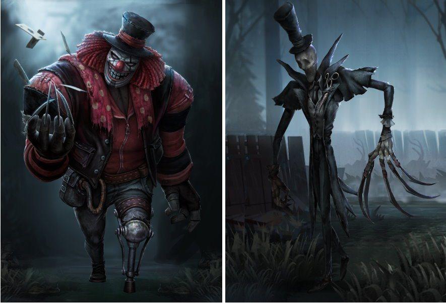 《第五人格》監管者角色-小丑(左)、杰克(右)
