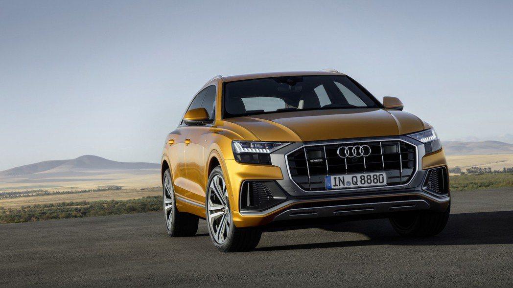 全新Audi Q8的外觀造型,與先前亮相的概念版本十分相似。 摘自Audi