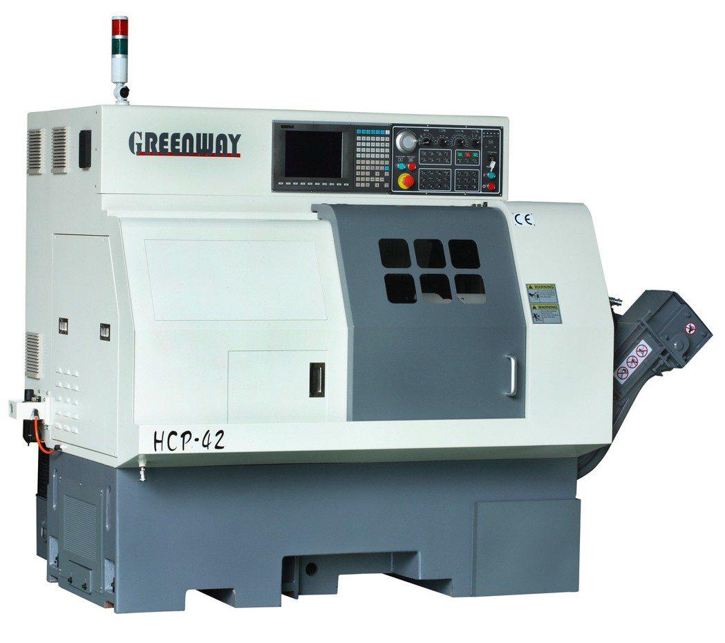昌勇HCP-42車銑複合數控車床。 昌勇實業/提供
