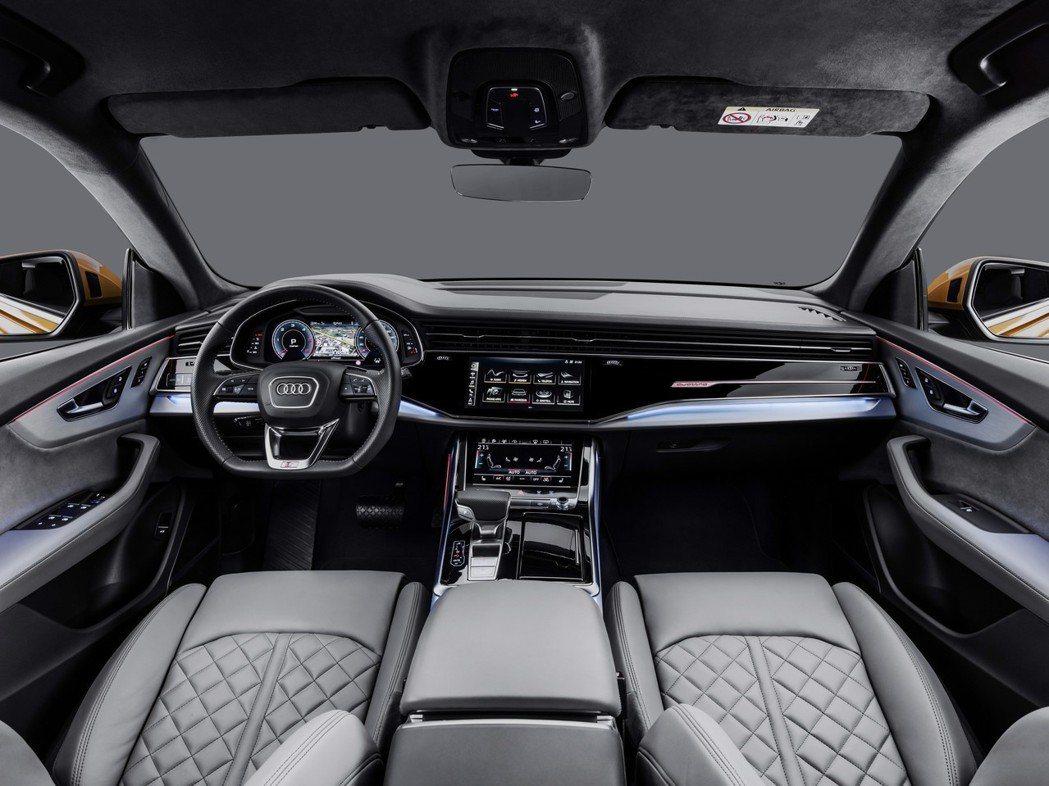 全新Audi Q8 車室。 摘自Audi