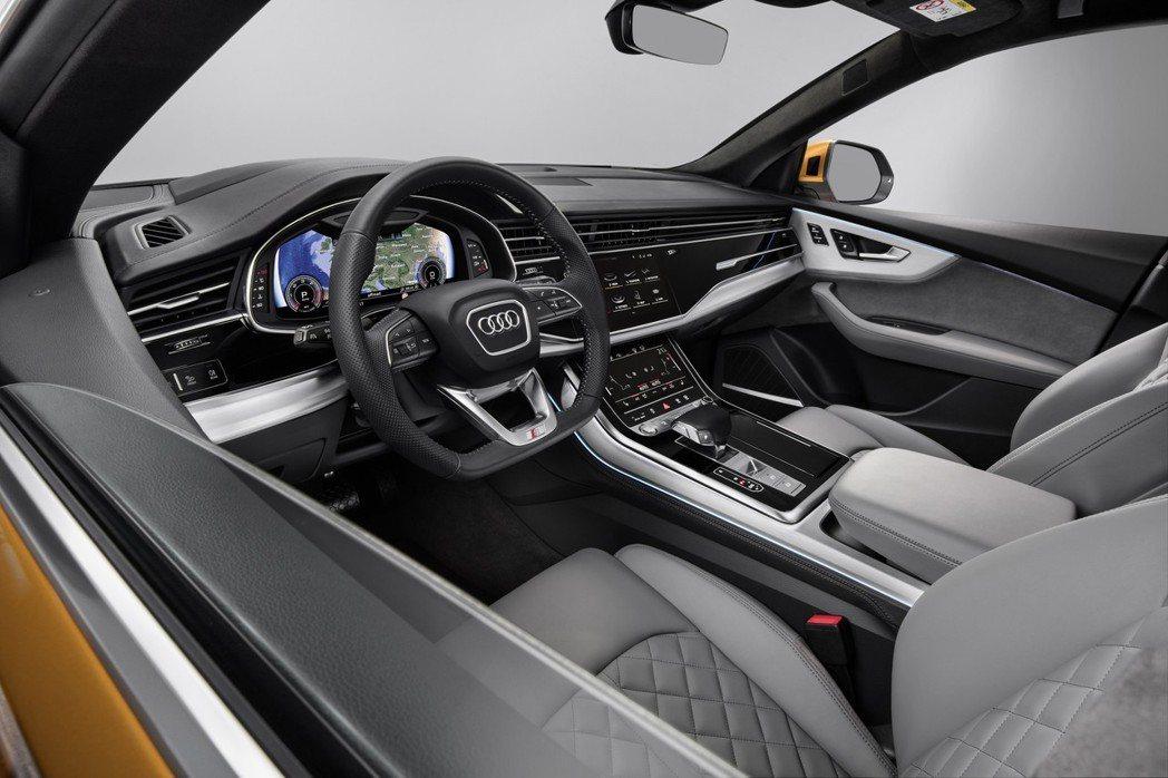 全新Audi Q8導入12.3吋Audi Virtual Cockpit數位儀表...
