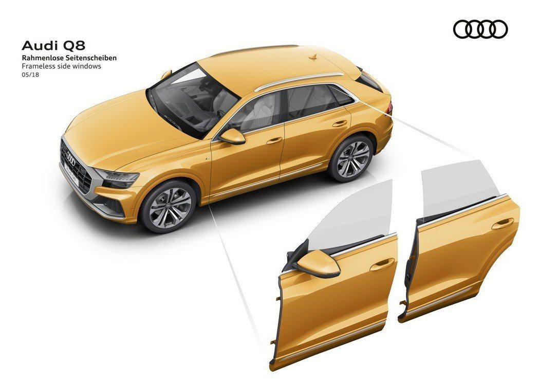 全新Audi Q8採用無窗框設計。 摘自Audi