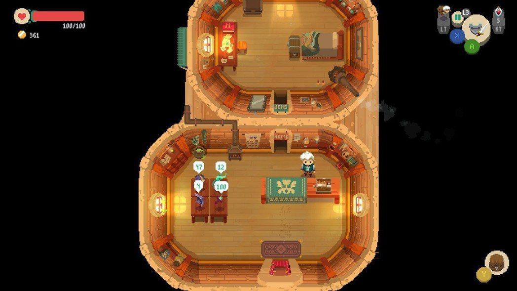 白天玩家將扮演一位店主,晚上則成為冒險者外出打寶