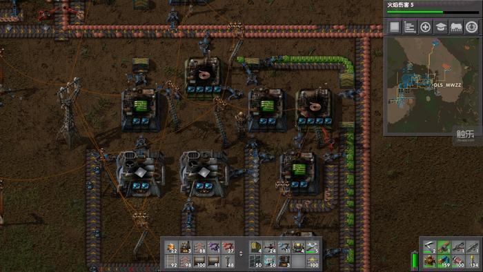 兩個高級單元4插件生產的銅線,能滿足3個中級單元生產芯片(綠色)的材料需求