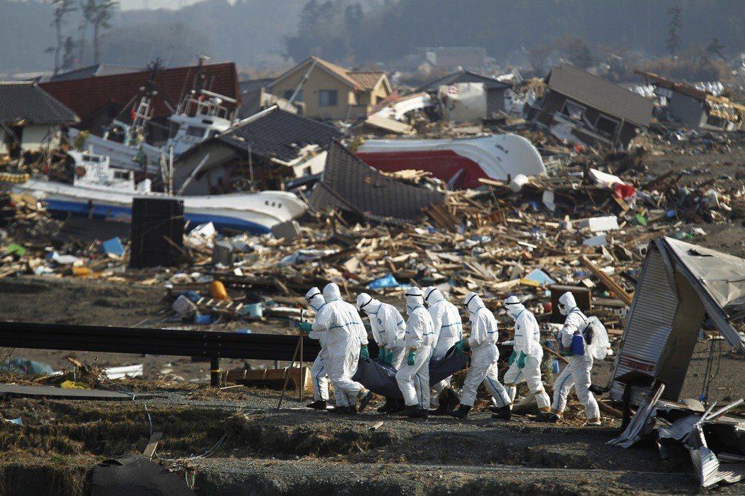 距離核電廠5英里外的浪江町,攝於2011年4月15日。 圖/美聯社