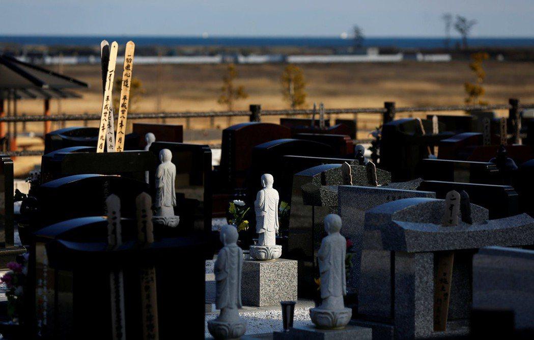 浪江町的墓地,攝於2017年3月8日。 圖/路透社