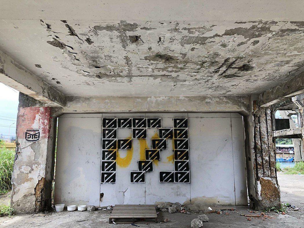 阿根納造船廠-寂寥的牆上也引來塗鴉客揮灑