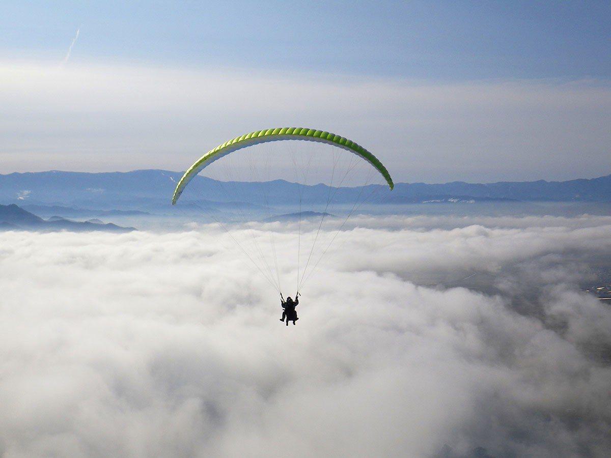 南陽空中公園體驗滑翔傘飛行樂趣