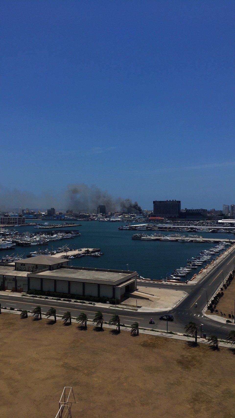 愛奇藝網劇「無主之城」來澎湖取景,卻發生大火。圖/讀者提供