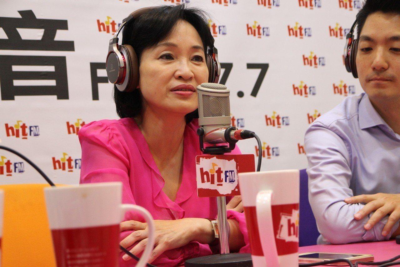 國民黨立委柯志恩接受電台專訪。圖/蔻蔻早餐提供