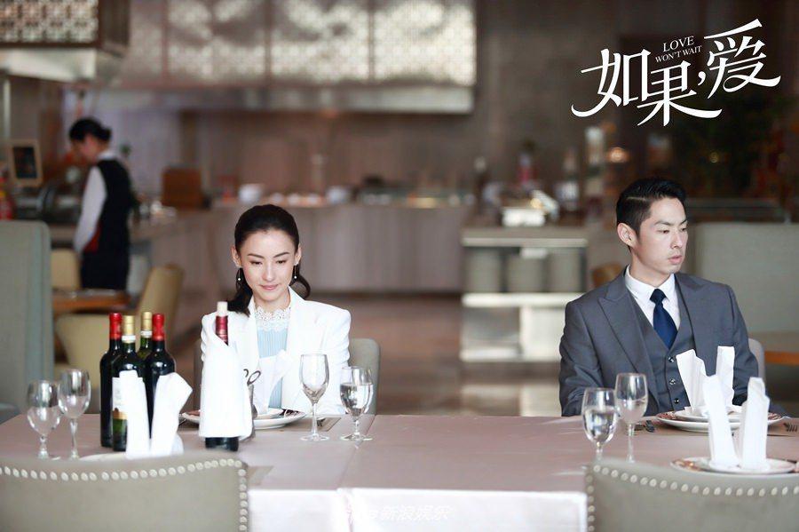 張柏芝與吳建豪在「如果,愛」演一對貌合神離的夫妻。圖/摘自微博(提醒您:禁止酒駕