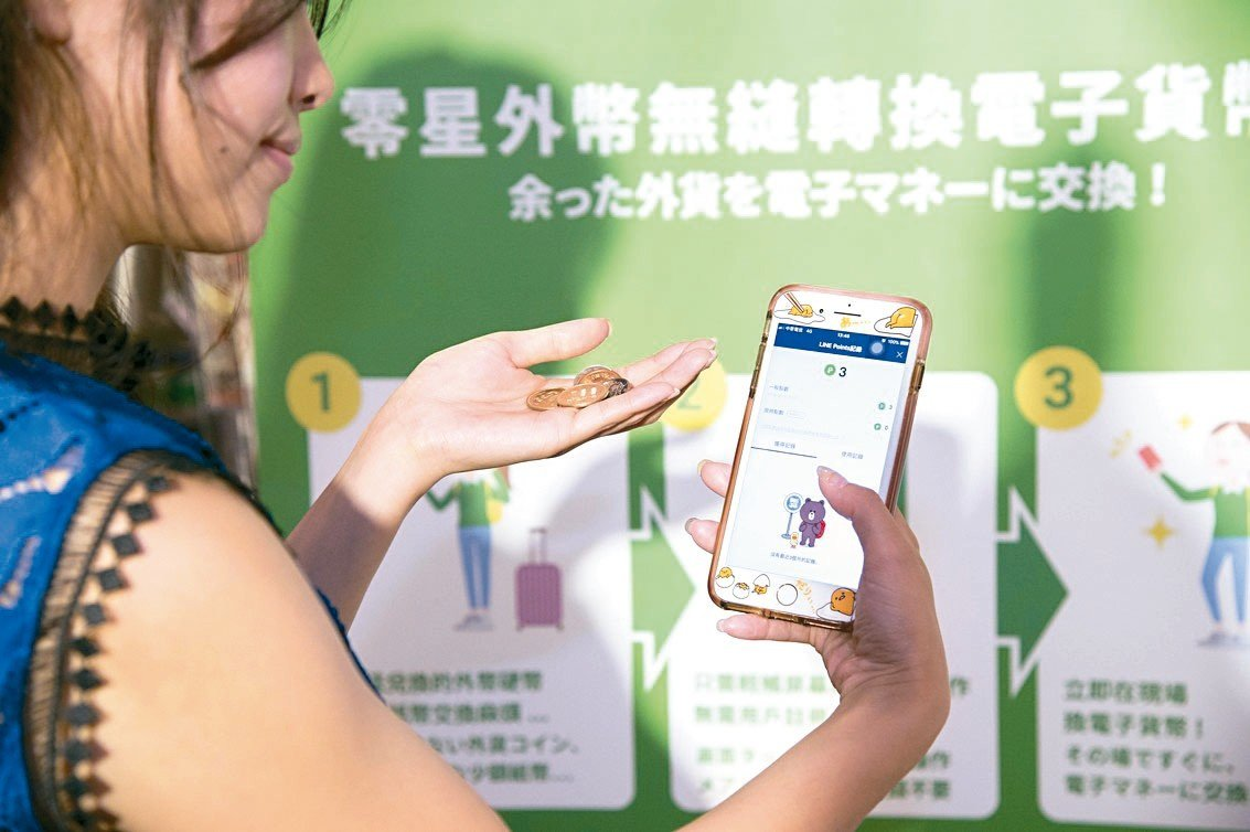 利用Pocket Change機台將各國零錢變身電子貨幣。圖/Pocket C...