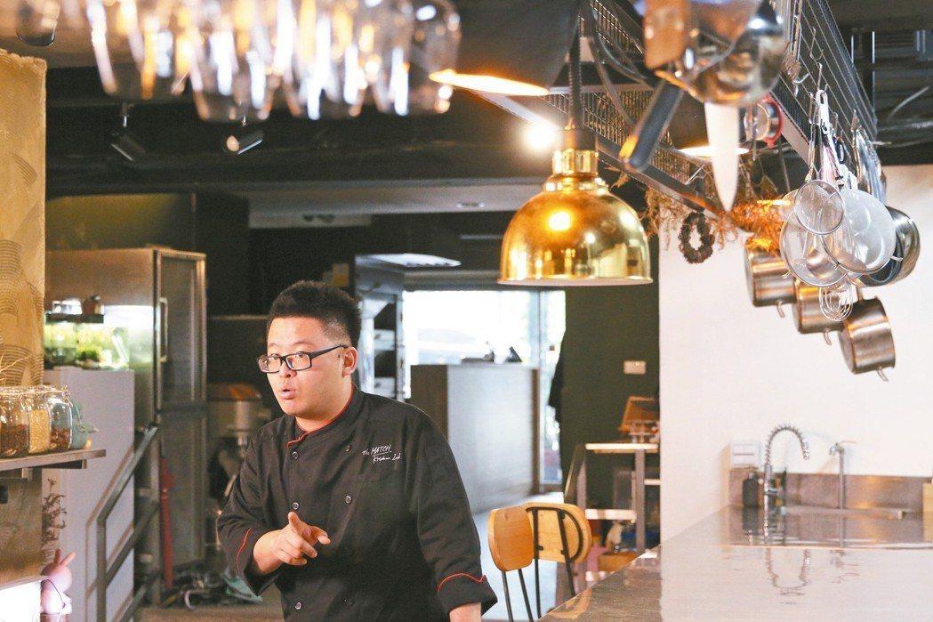 「午食對味實驗料理廚房」主廚洪昭勝。 記者黃建亮/攝影