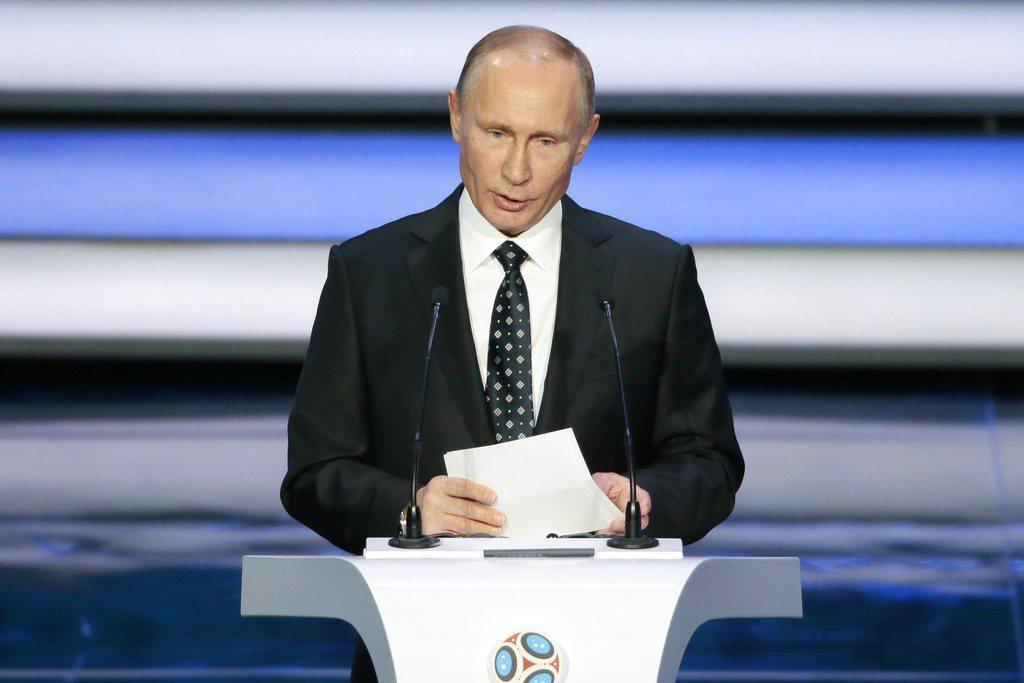 俄羅斯總統普亭希望透過世足賽凝聚全國人民的向心力。 美聯社