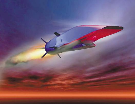 美國波音公司也曾研發超音速無人機「X-51A乘波者」,圖為藝術家所繪的X-51A...