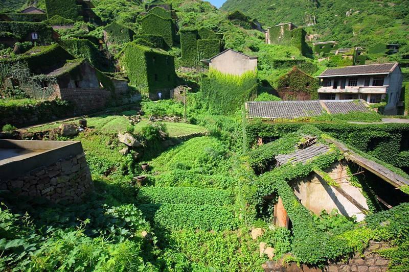 大陸浙江後龍灣村因為荒廢而形成自然景觀。圖片來源/壹讀