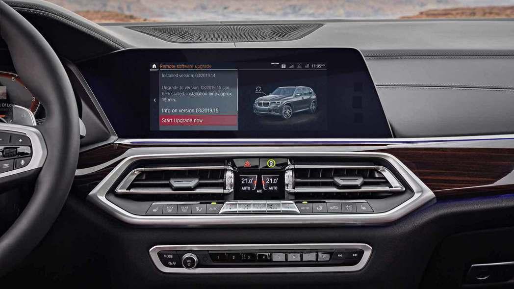 全新BMW X5(G05)的中控台設計總算有所不同。 摘自BMW