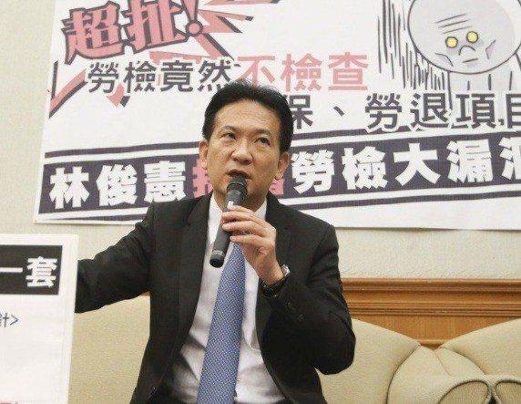 立委林俊憲。聯合報系資料照