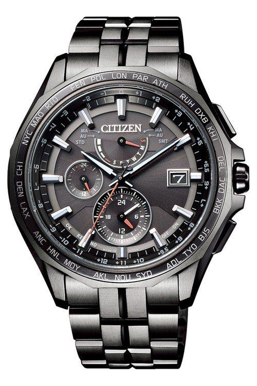 星辰光動能全球電波時計AT9097-54E腕表,台灣限量150只,約48,800...
